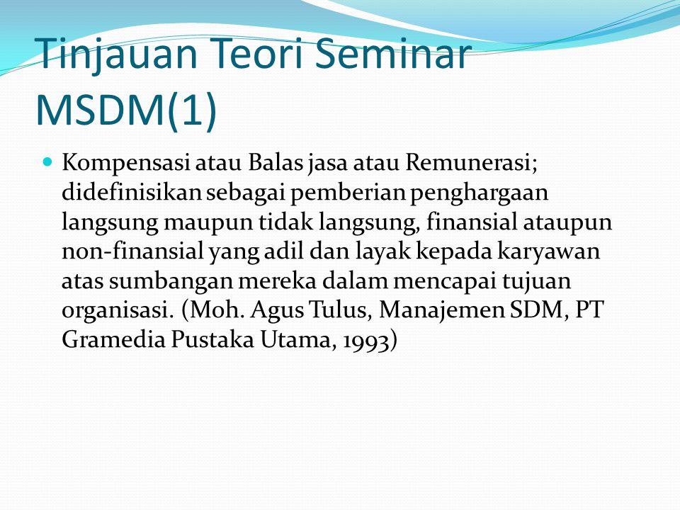 Tinjauan Teori Seminar MSDM(1)