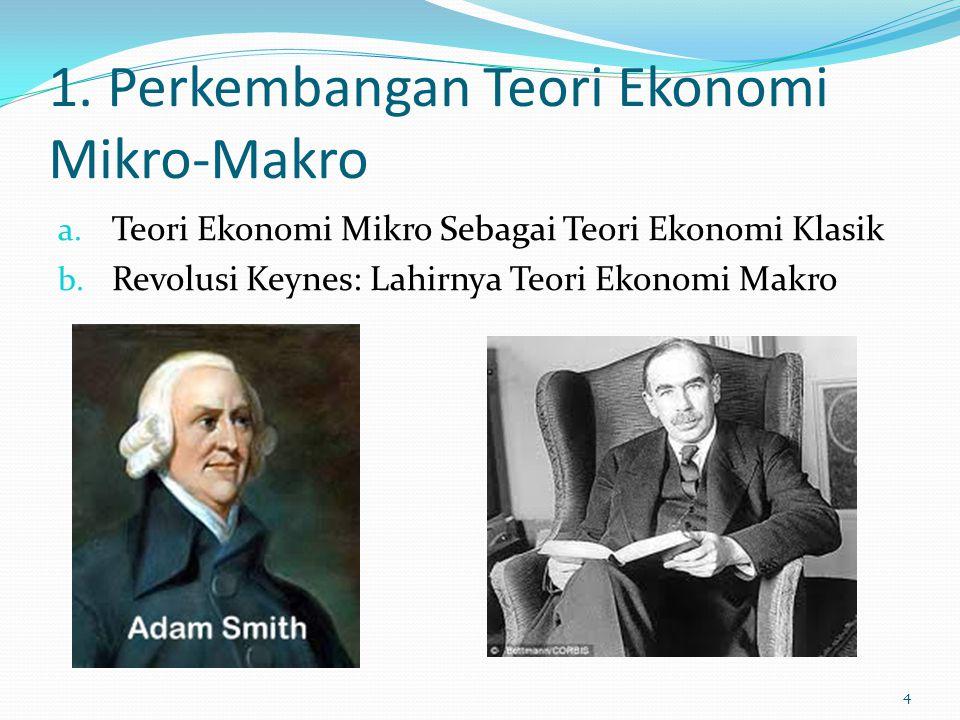 1. Perkembangan Teori Ekonomi Mikro-Makro