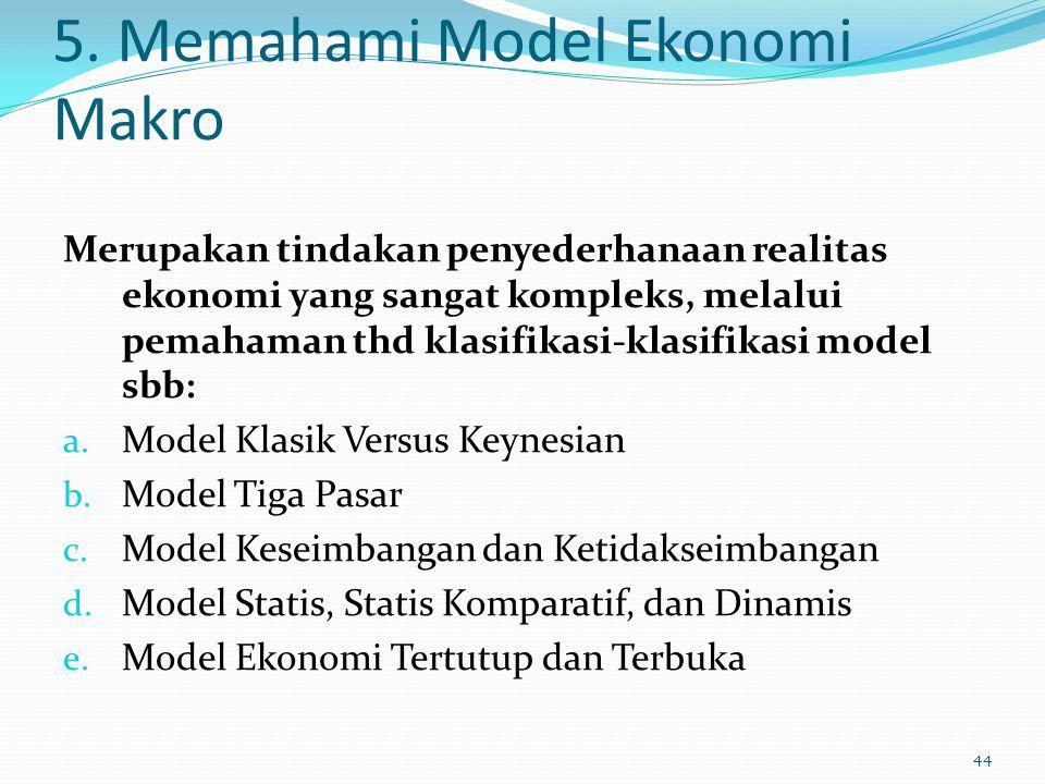 5. Memahami Model Ekonomi Makro