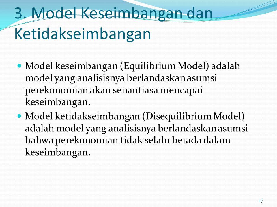 3. Model Keseimbangan dan Ketidakseimbangan