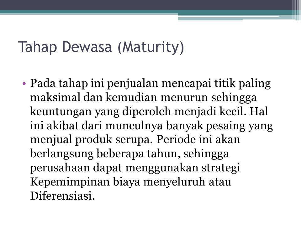 Tahap Dewasa (Maturity)
