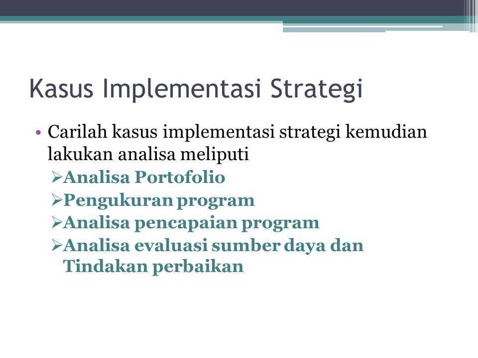 Kasus Implementasi Strategi