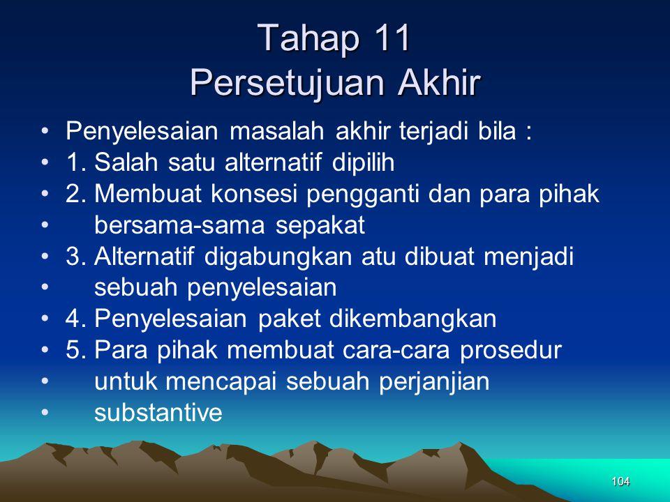 Tahap 11 Persetujuan Akhir
