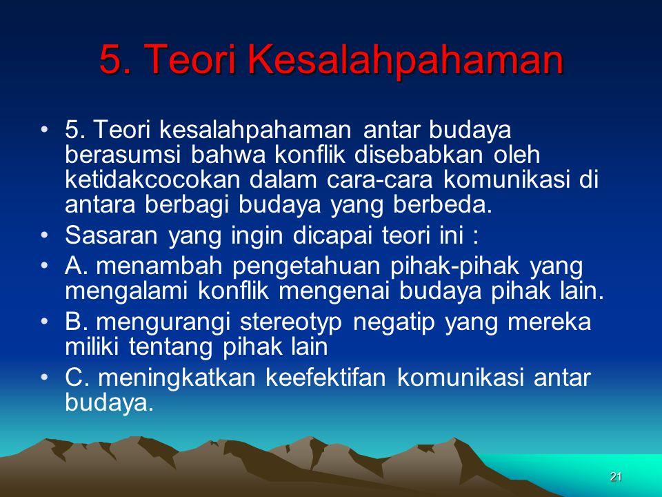 5. Teori Kesalahpahaman