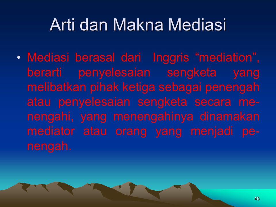 Arti dan Makna Mediasi