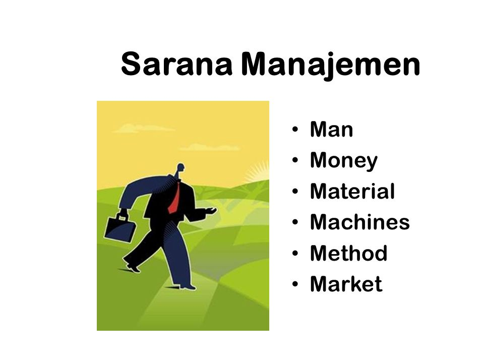 Sarana Manajemen Man Money Material Machines Method Market