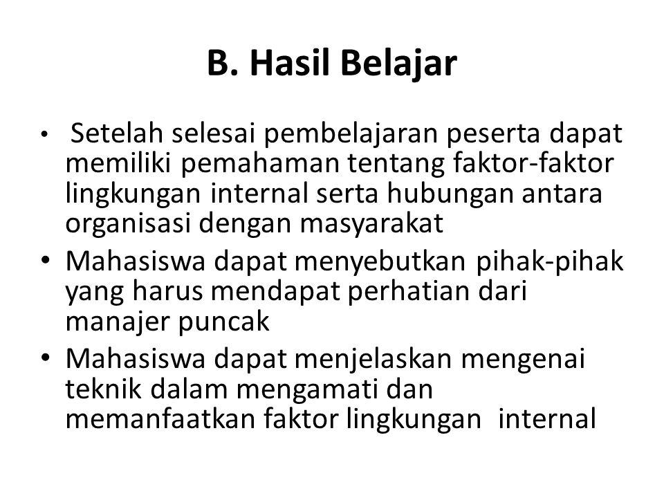 B. Hasil Belajar