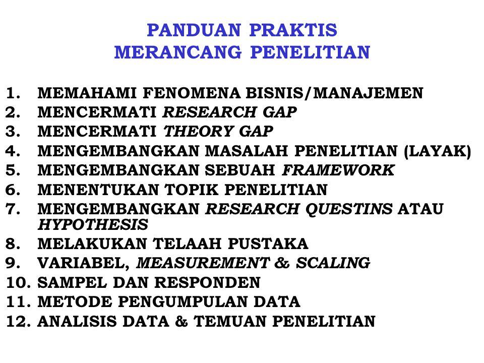 PANDUAN PRAKTIS MERANCANG PENELITIAN