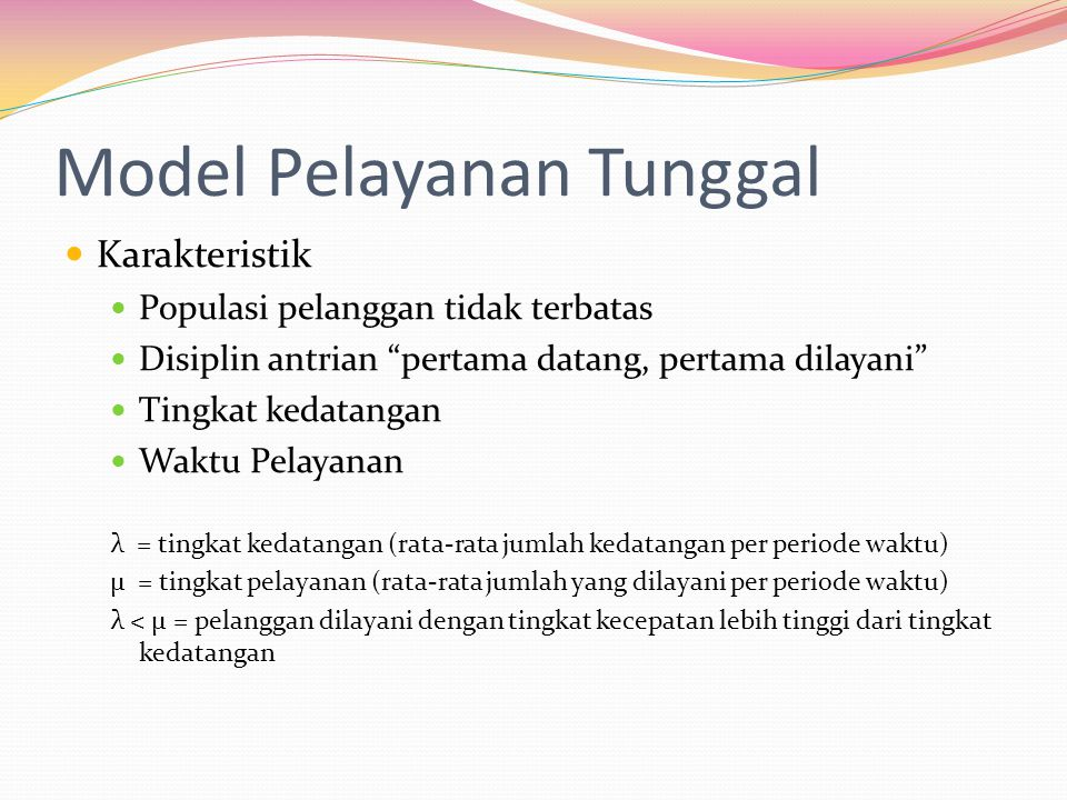 Model Pelayanan Tunggal