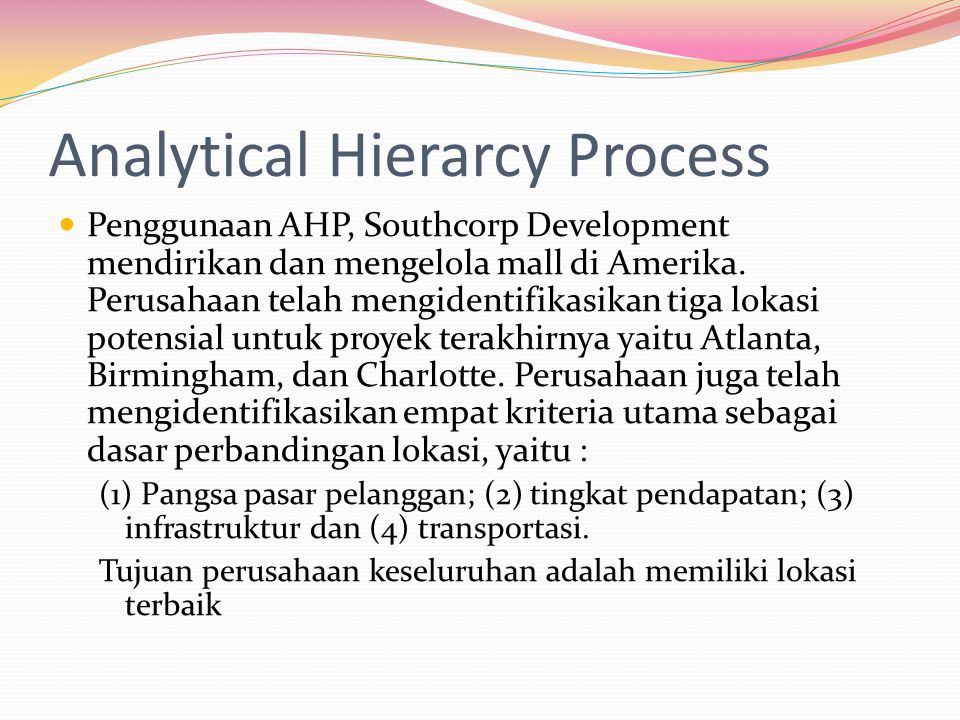 Analytical Hierarcy Process