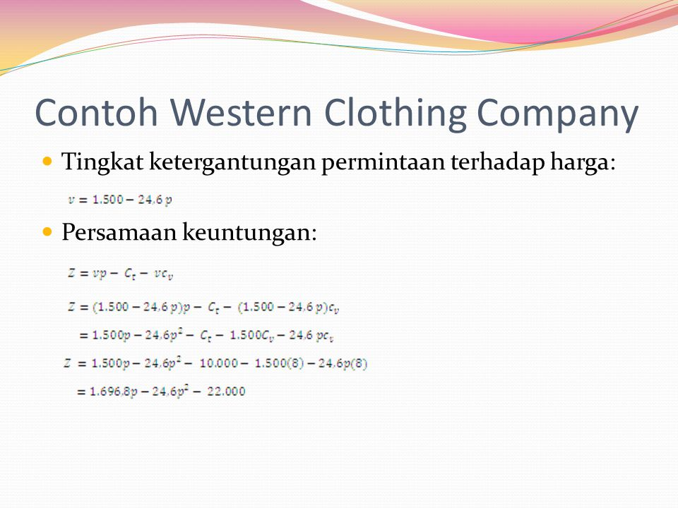 Contoh Western Clothing Company
