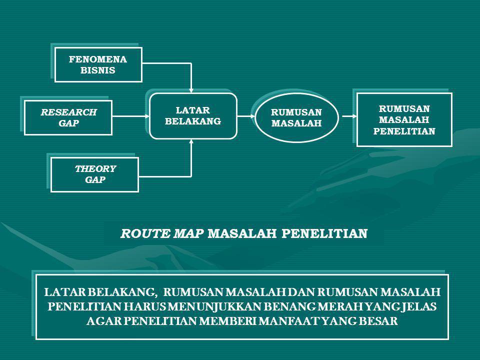ROUTE MAP MASALAH PENELITIAN