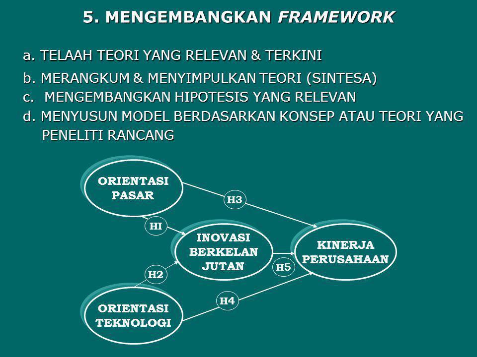 5. MENGEMBANGKAN FRAMEWORK