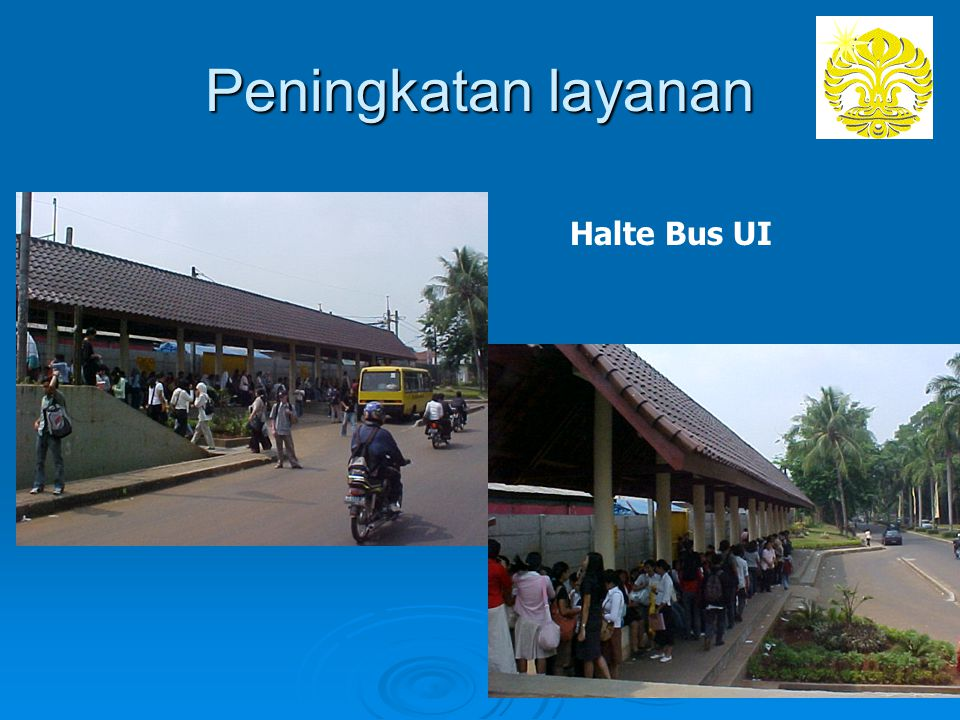 Peningkatan layanan Halte Bus UI