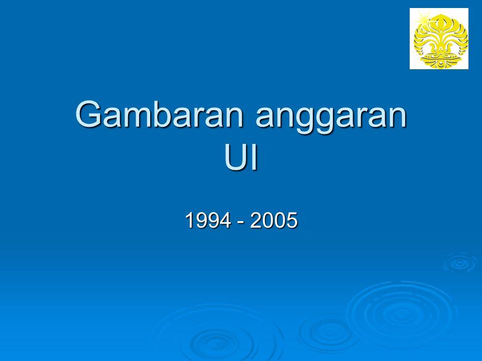 Gambaran anggaran UI 1994 - 2005
