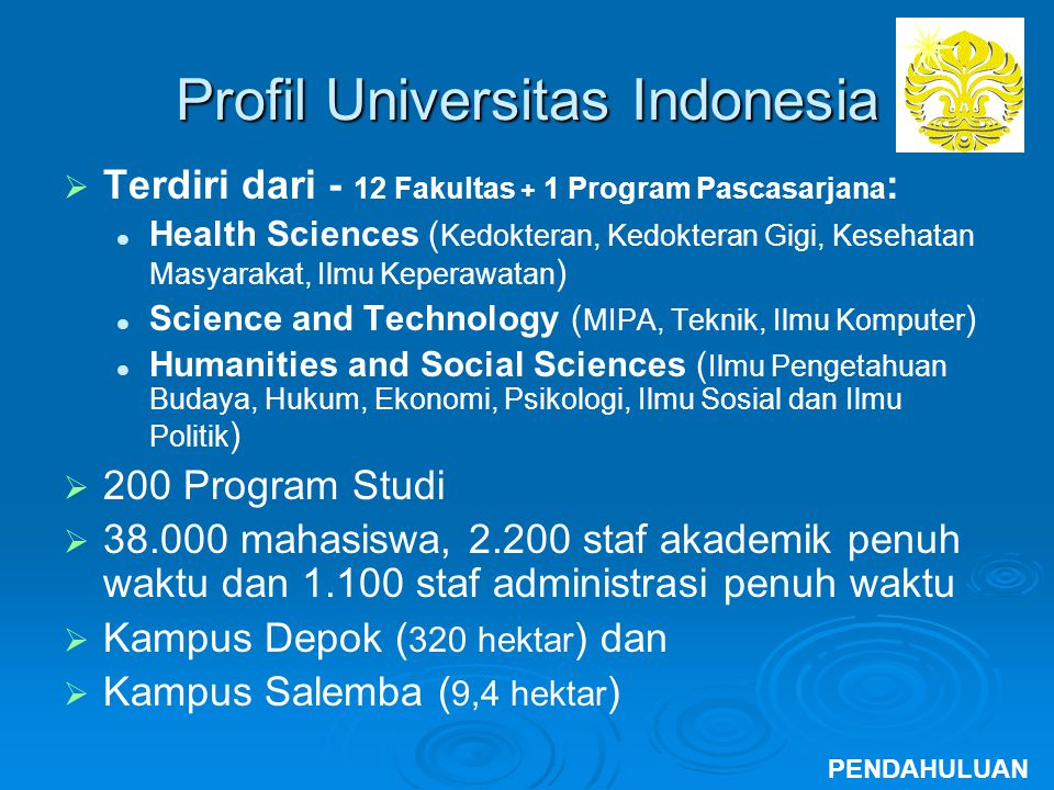 Profil Universitas Indonesia