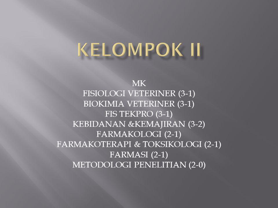KELOMPOK II MK FISIOLOGI VETERINER (3-1) BIOKIMIA VETERINER (3-1)