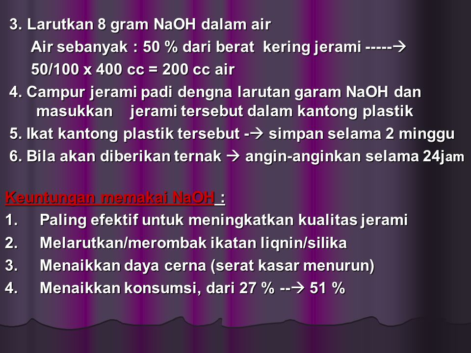 3. Larutkan 8 gram NaOH dalam air