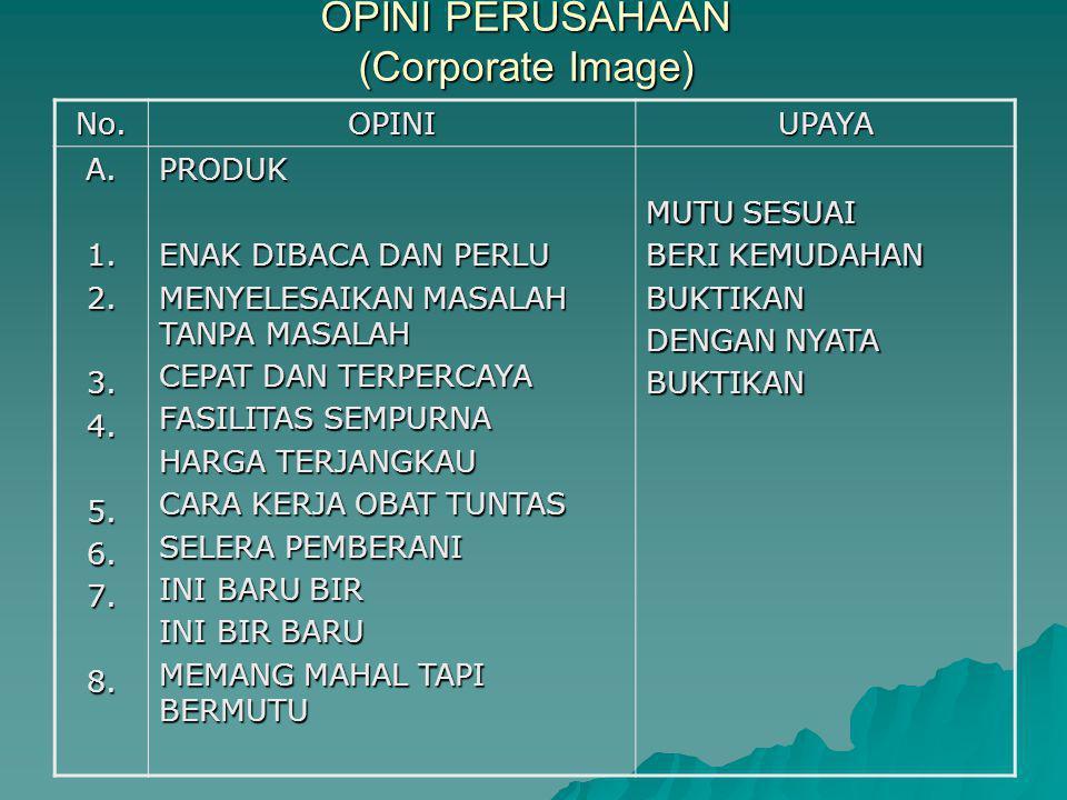 OPINI PERUSAHAAN (Corporate Image)