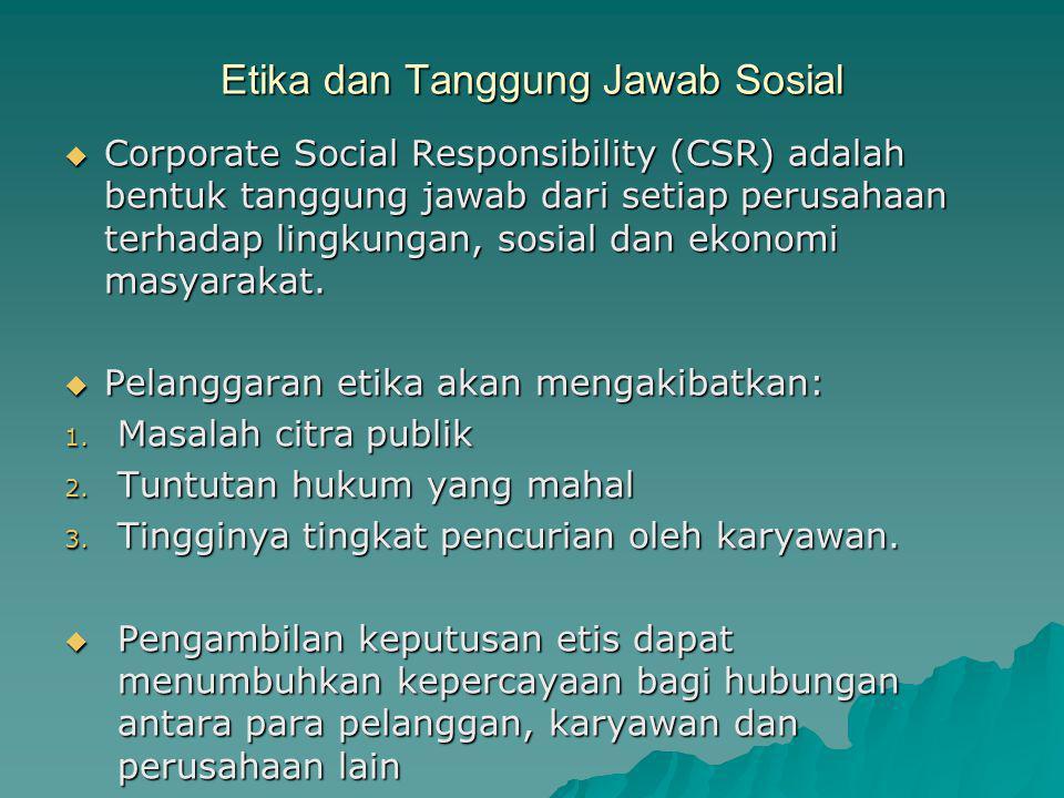 Etika dan Tanggung Jawab Sosial