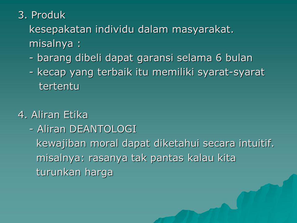 3. Produk kesepakatan individu dalam masyarakat
