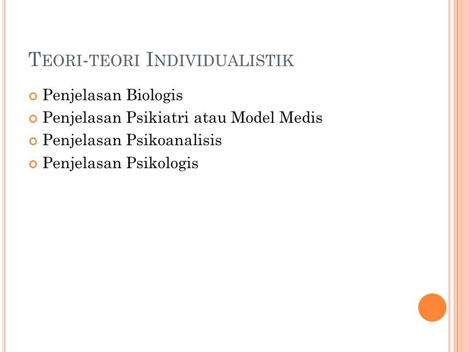 Teori-teori Individualistik