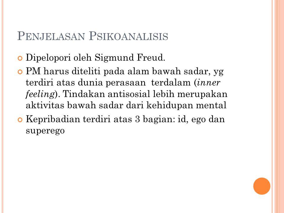 Penjelasan Psikoanalisis
