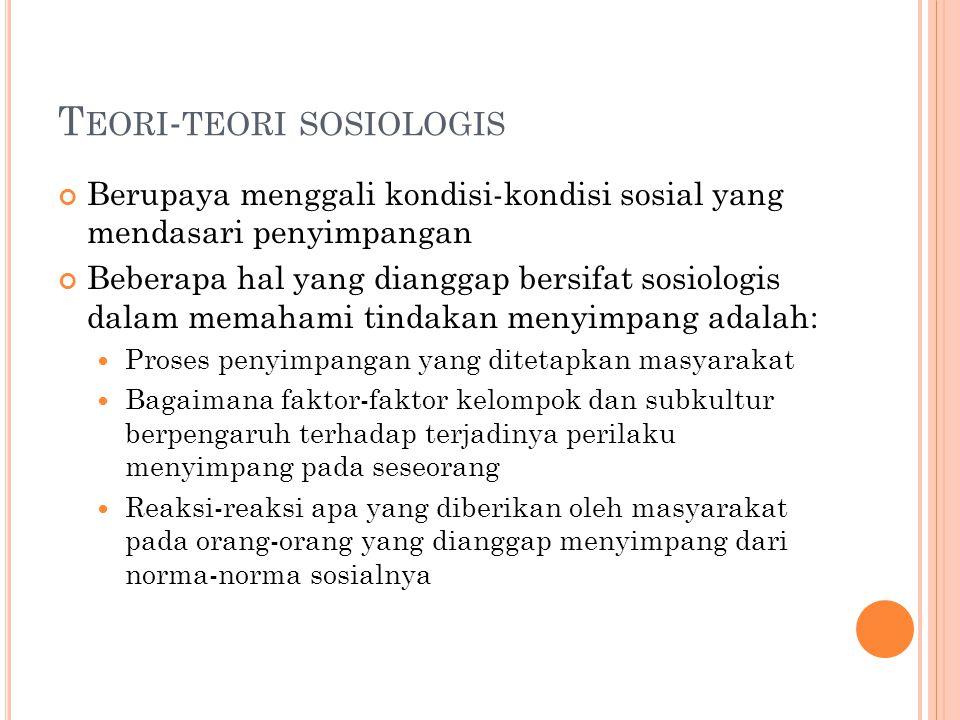 Teori-teori sosiologis