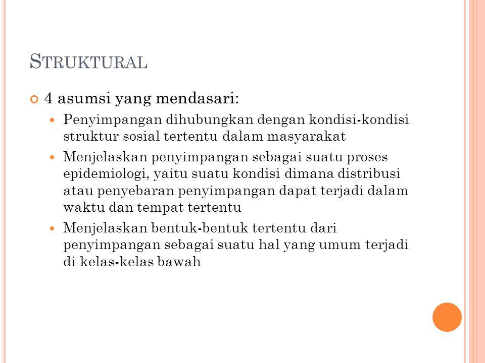 Struktural 4 asumsi yang mendasari: