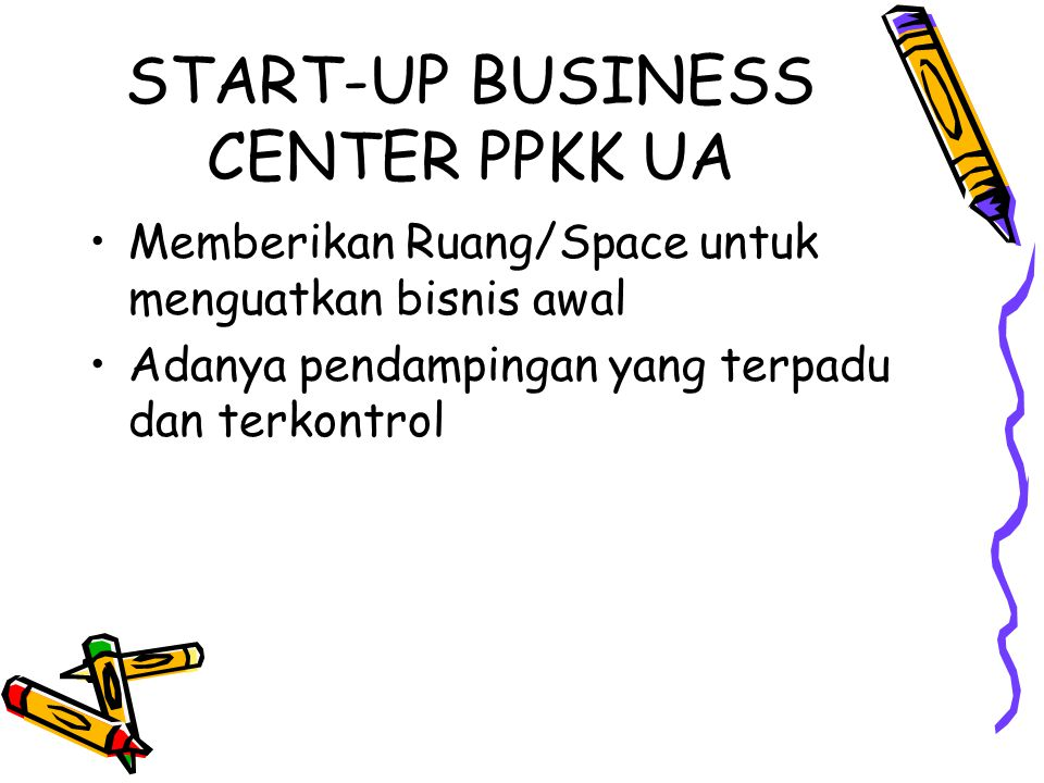 START-UP BUSINESS CENTER PPKK UA