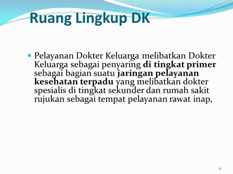 Ruang Lingkup DK