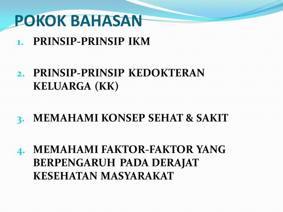POKOK BAHASAN PRINSIP-PRINSIP IKM