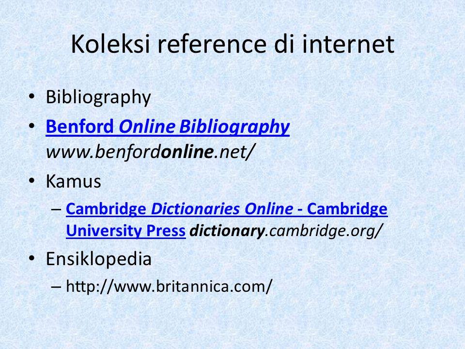 Koleksi reference di internet