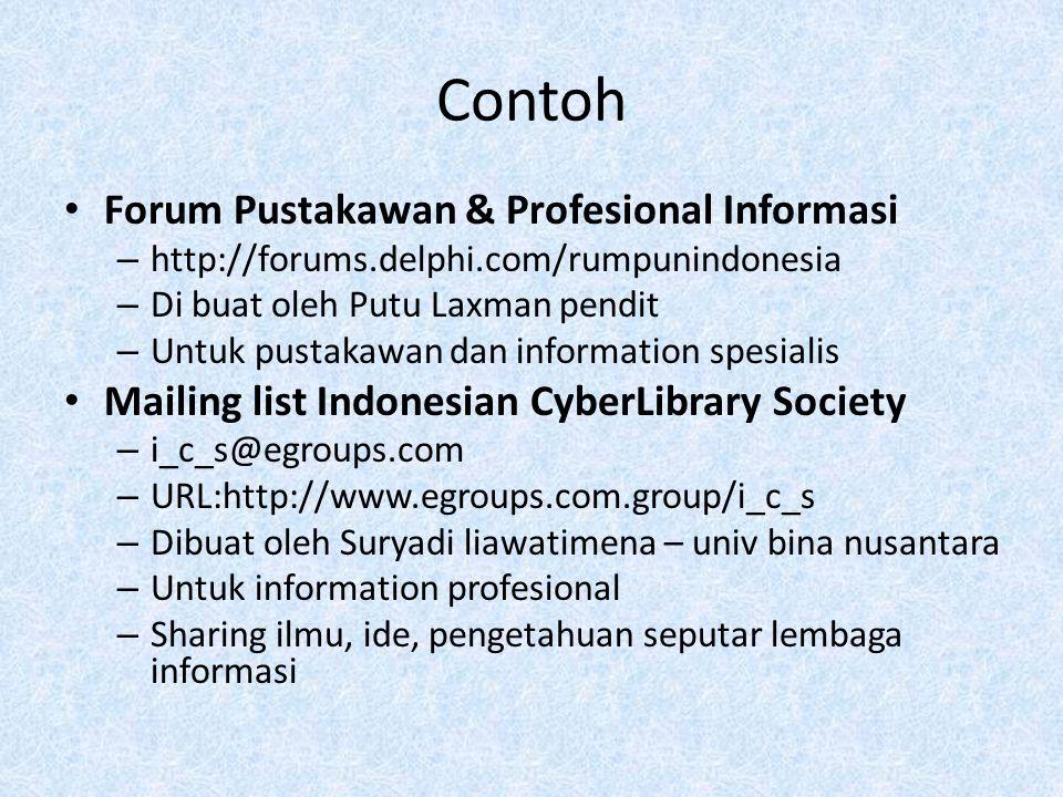 Contoh Forum Pustakawan & Profesional Informasi