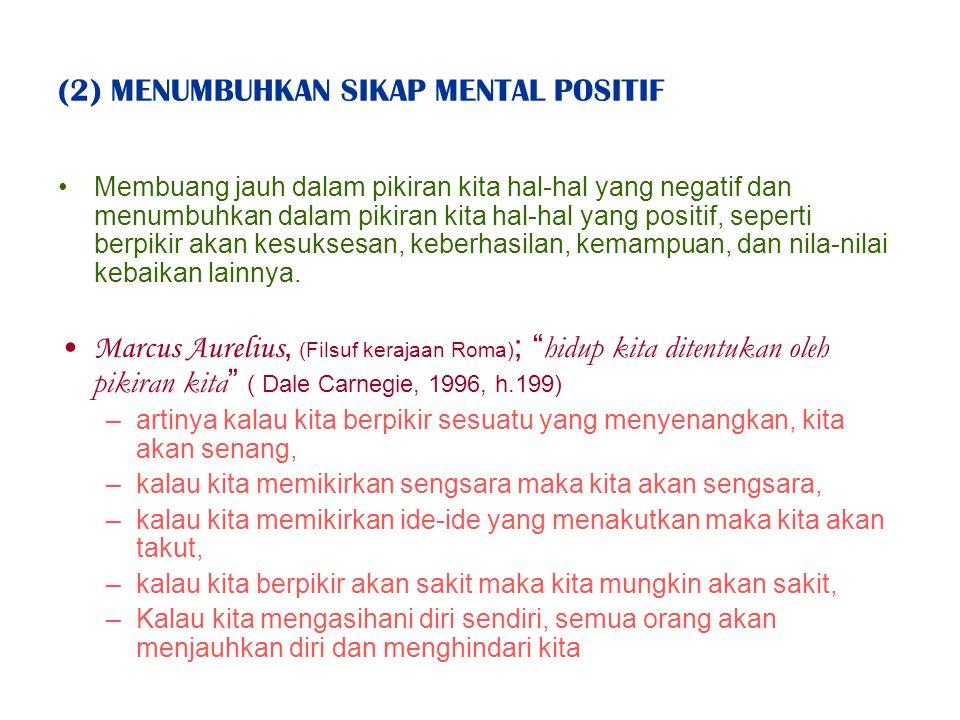 (2) MENUMBUHKAN SIKAP MENTAL POSITIF