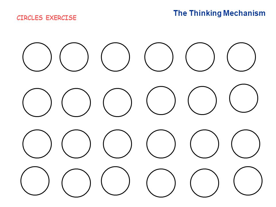 The Thinking Mechanism