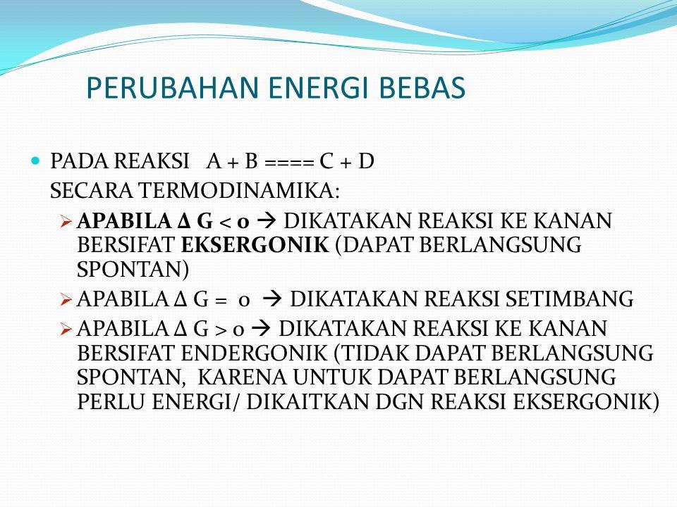 PERUBAHAN ENERGI BEBAS