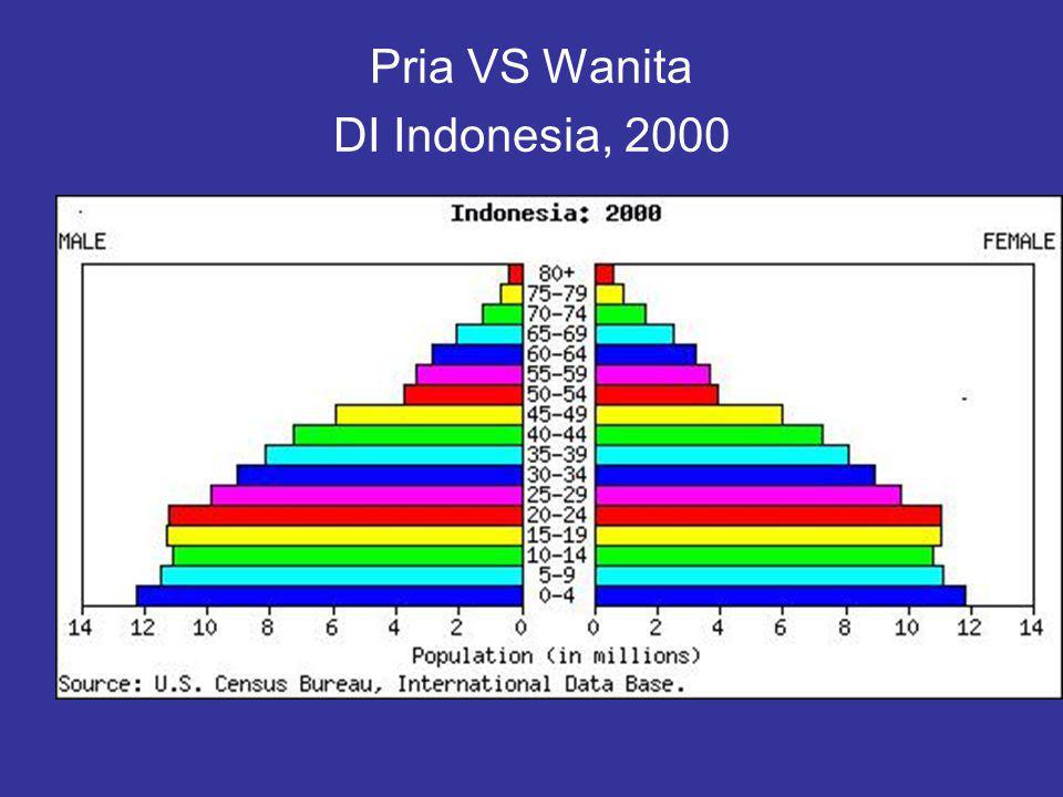 Pria VS Wanita DI Indonesia, 2000