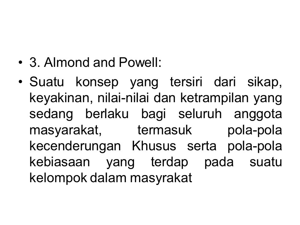 3. Almond and Powell: