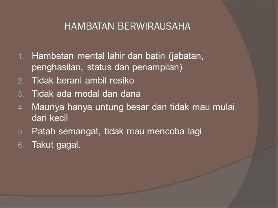 HAMBATAN BERWIRAUSAHA