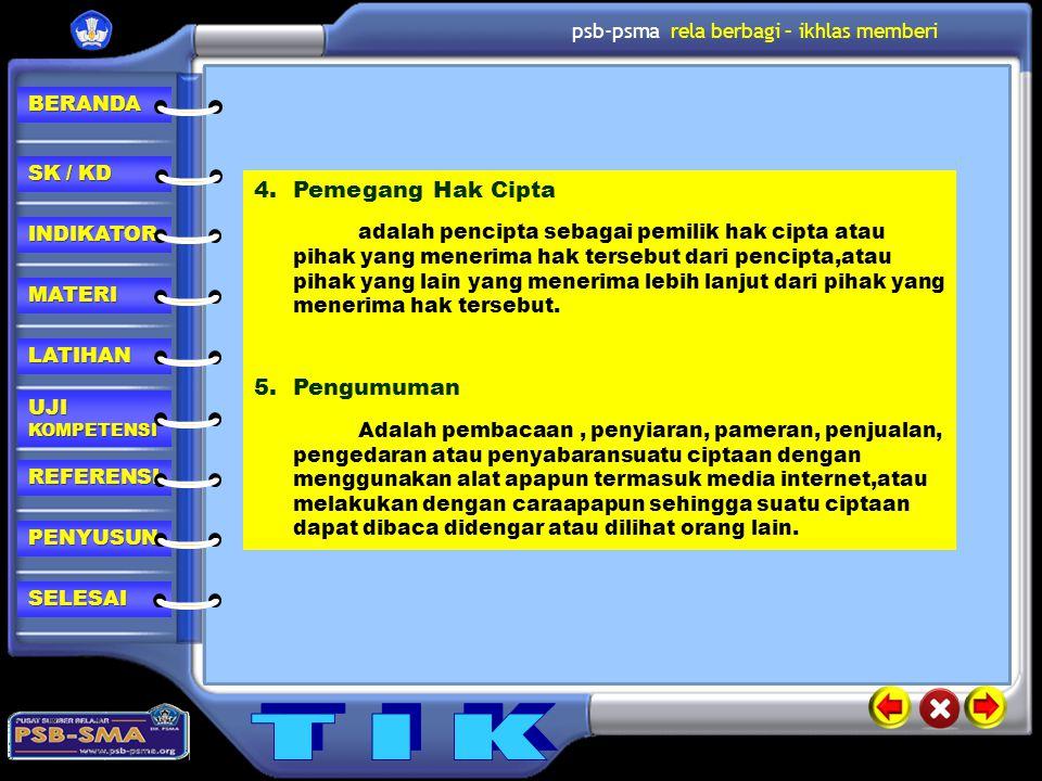 Pemegang Hak Cipta