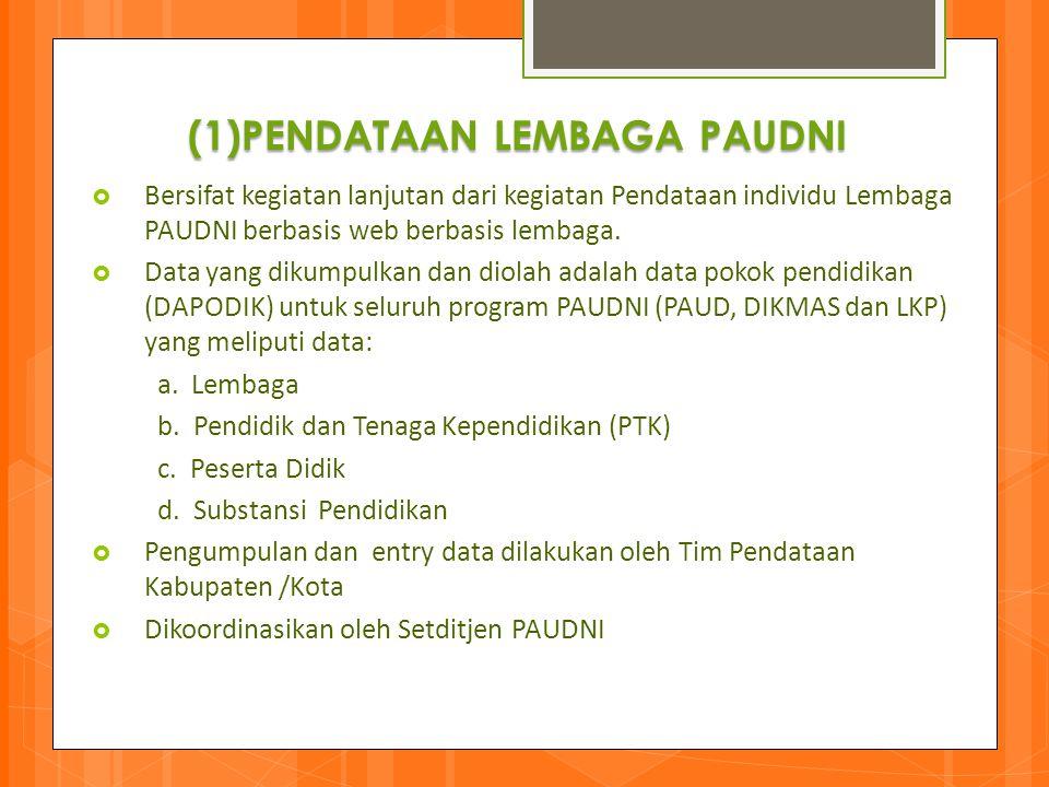 (1)PENDATAAN LEMBAGA PAUDNI