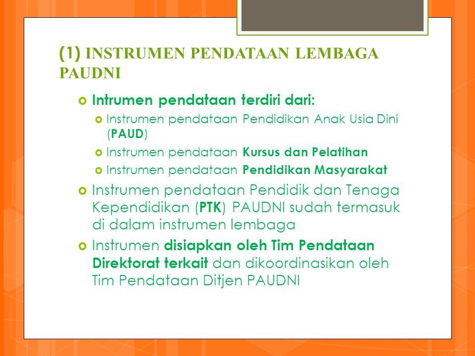 (1) INSTRUMEN PENDATAAN LEMBAGA PAUDNI