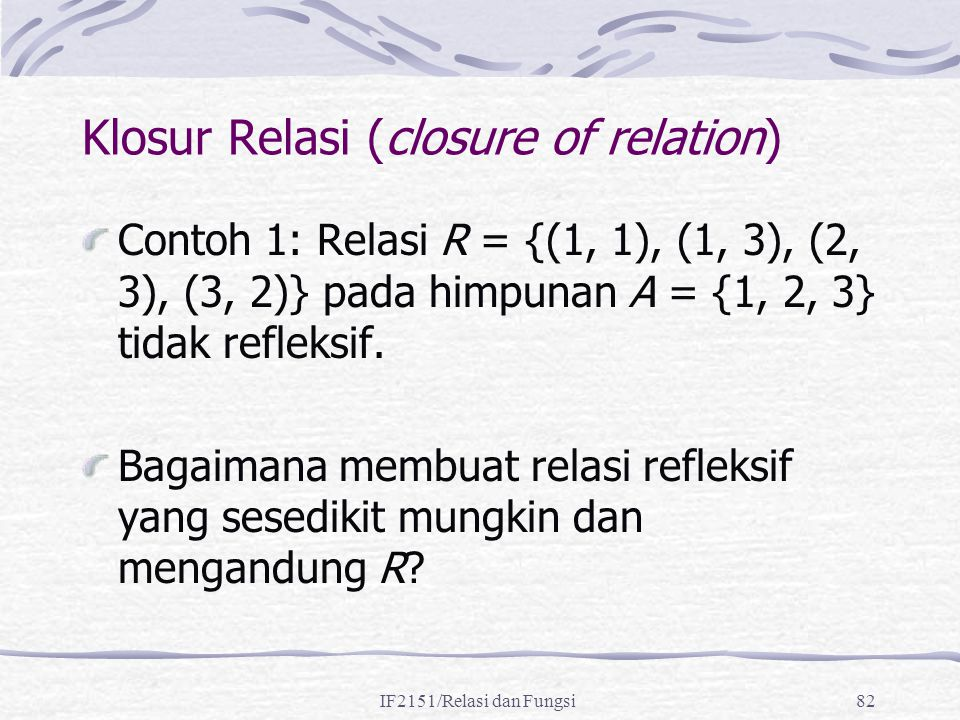 Klosur Relasi (closure of relation)