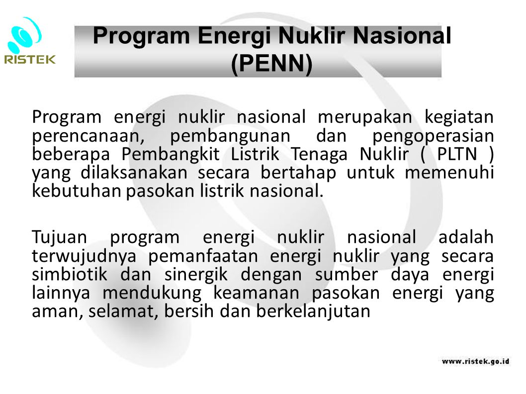Program Energi Nuklir Nasional (PENN)