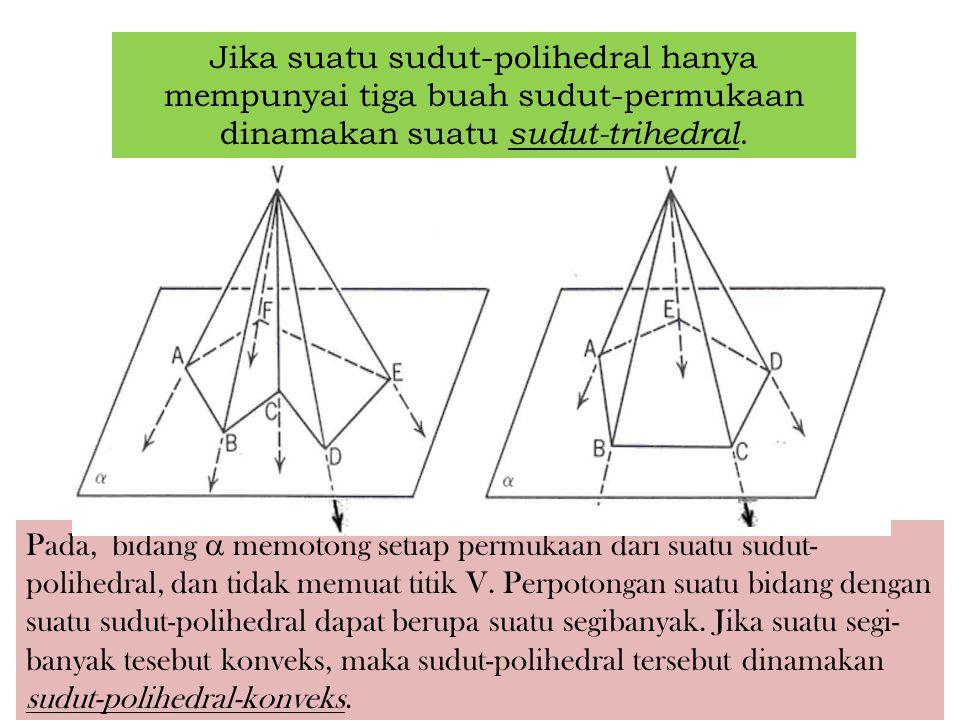 Jika suatu sudut-polihedral hanya mempunyai tiga buah sudut-permukaan dinamakan suatu sudut-trihedral.