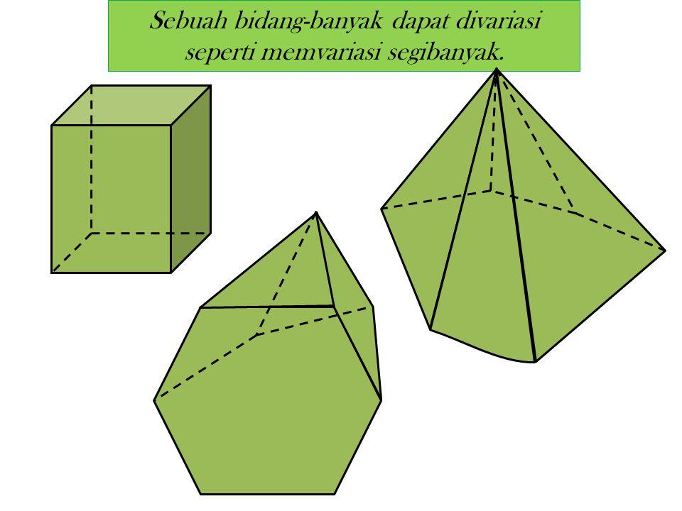 Sebuah bidang-banyak dapat divariasi seperti memvariasi segibanyak.