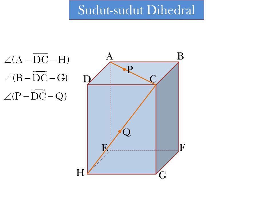 Sudut-sudut Dihedral A B P D C Q E F H G
