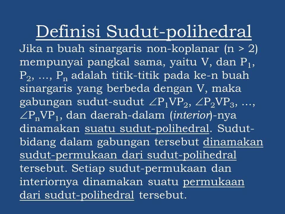 Definisi Sudut-polihedral