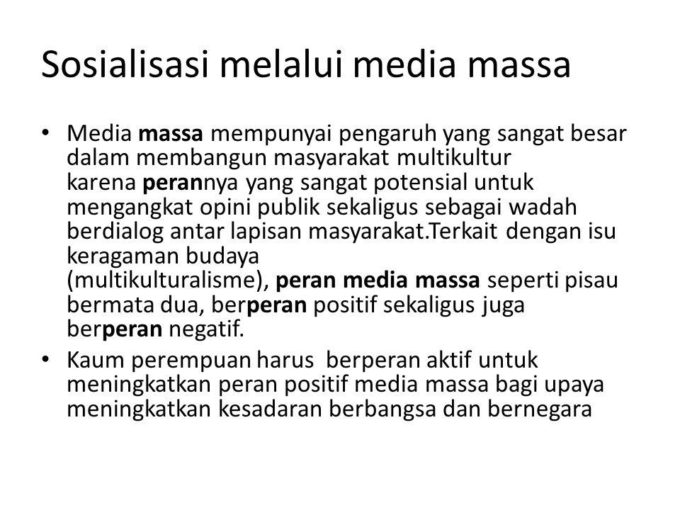 Sosialisasi melalui media massa